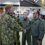 Admiral Foggo visits air detachments at Bodø