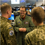 Ukrainian Officers observe NATO computer-assisted exercise at Allied Air Command